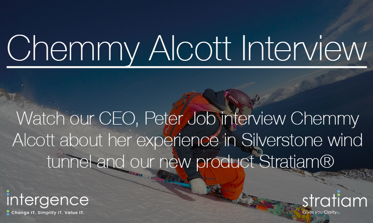 Ski Sunday presenter Chemmy Alcott interviewed by the Intergence CEO